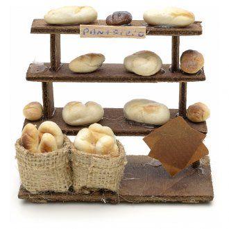 banco pane per presepe napoletano fai da te legno terracotta
