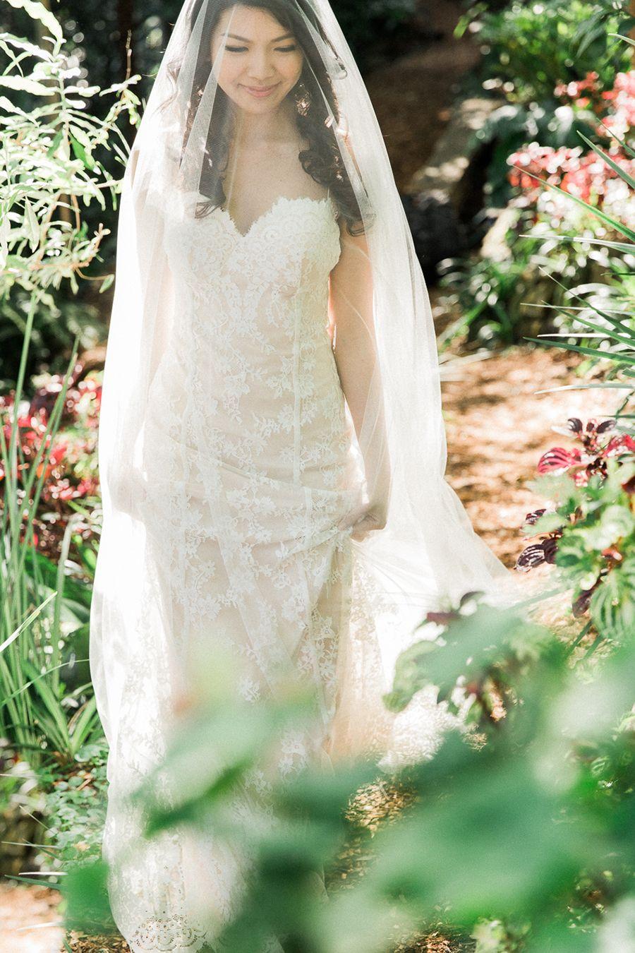Portrait Of A Barefoot Bride In Wendys Secret Garden Sydney