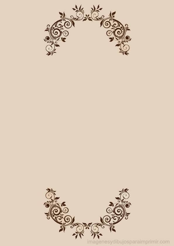 Hojas decoradas para imprimir con flores elegantes ...
