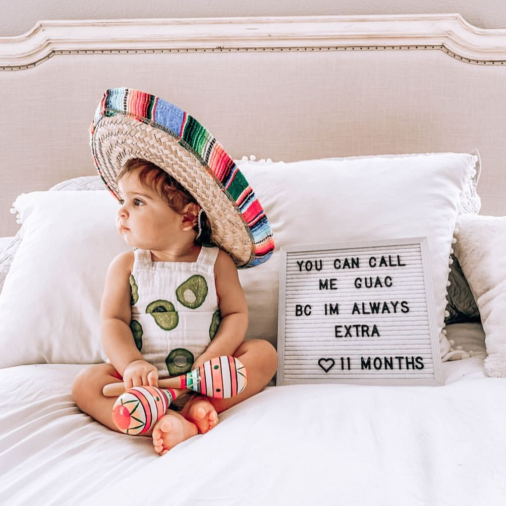 Instagram Alexandra Lourdes When Sophie S 11 Month Birthday Falls On Cinco De Mayo Her Avo Baby Milestone Photos Monthly Baby Pictures Monthly Baby Photos