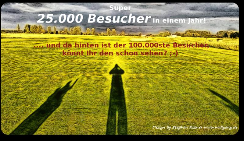 25000 Blogbesucher