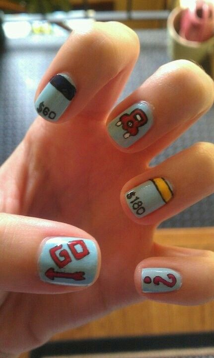Fun Monopoly nails | Nail Art Gallery | Pinterest | Monopoly and ...