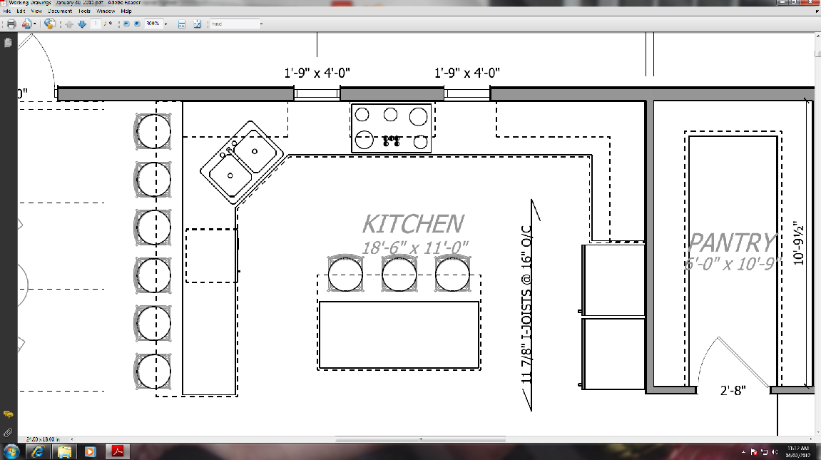 Kitchen Floor Plans With Pantry