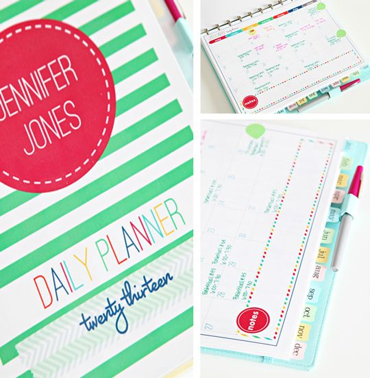 Awesome Personalized Daily Planner Printables From I Heart Organizing Everything You Need In An Oh