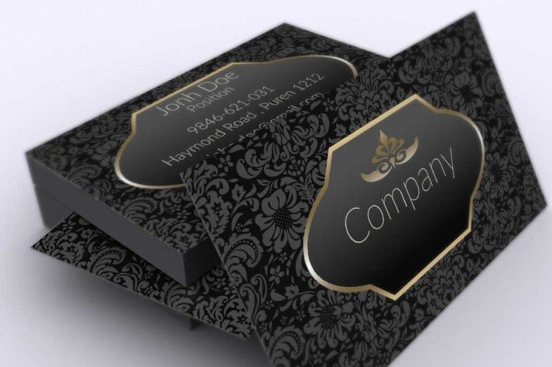 Elegant dark vintage business card template suitable for any kind elegant dark vintage business card template suitable for any kind of business this template reheart Choice Image