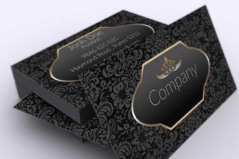 Dark Vintage Business Card Template Vintage Business Cards Template Free Business Card Templates Vintage Business Cards