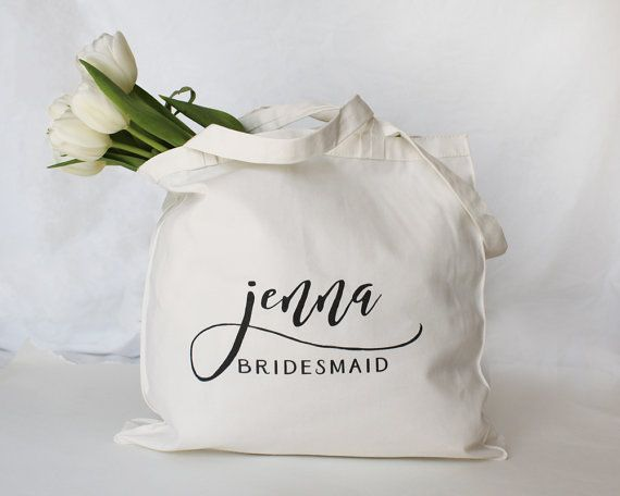 16 Bridesmaid Bags Bridal Party Gifts Custom Tote Bagspersonalized
