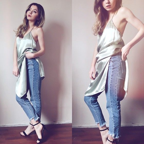 Get this look: http://lb.nu/look/8721629  More looks by Duygu Fidanoglu: http://lb.nu/animustyle  Items in this look:  H&M Heels, Bershka Jeans, Mango Dress   #bohemian #casual #chic