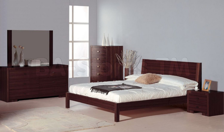 Schlafzimmer Wenge ~ Alpha pc bedroom set in wenge bed nightstands dresser and