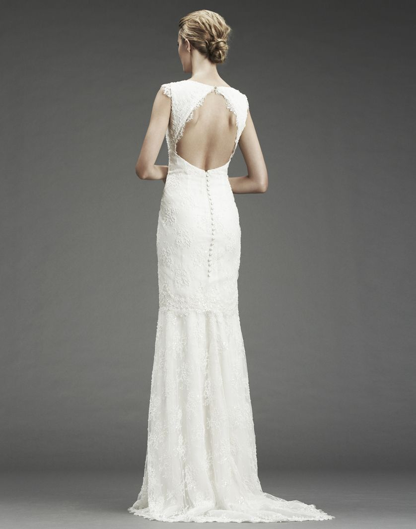 Wedding dresses mermaid style lace  NICOLE MILLER back of dress This would be stunning on you Mol