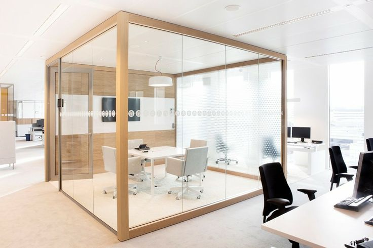 elegant office conference room design wooden. An Elegant Simple Cube With Wood And Glass At The Offices For Power Company Nuon. Office Conference Room Design Wooden
