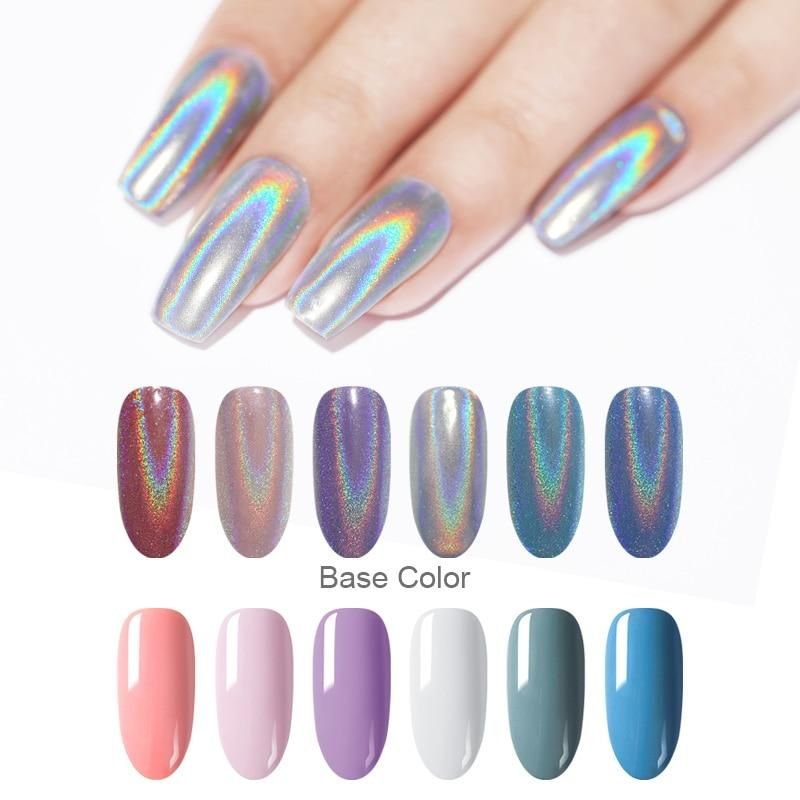Holographic Nail Powder Glitter Shimmer Dust Chrome