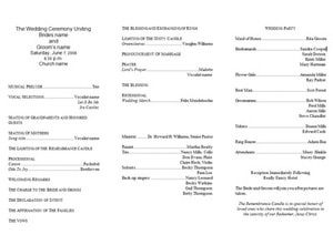 Program Templates. free wedding program templates word best ...
