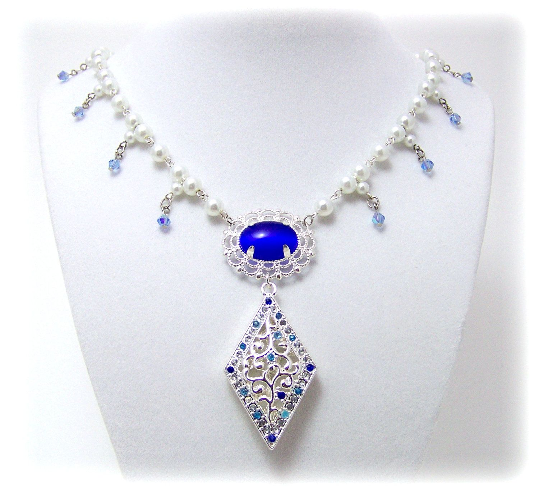 Medieval Necklace Renaissance Jewelry by TreasuresForAQueen