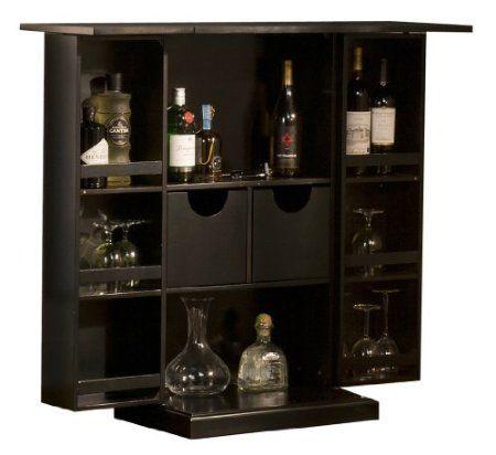 Amazon Com Black Folding Fold Away Wine Liquor Fold Up Mini Bar Pub Cabinet Rack Home Kitchen Bar Furniture Home Bar Furniture Game Room Bar