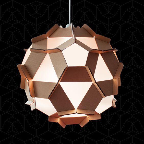 fabriquer un lampadaire en carton voici 20 id es cr atives decoration pinterest. Black Bedroom Furniture Sets. Home Design Ideas