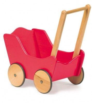 588c738af9f7e Small Foot Drevený kočík pre bábiky červený | Kočíky pre bábiky ...