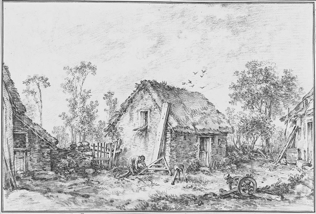 Landscape_with_Rustic_Cottage.1760 by Francois Boucher