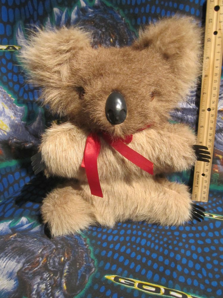 Vintage 60's Kangaroo Fur 11 Inch Koala Plush Stuffed Bear ...