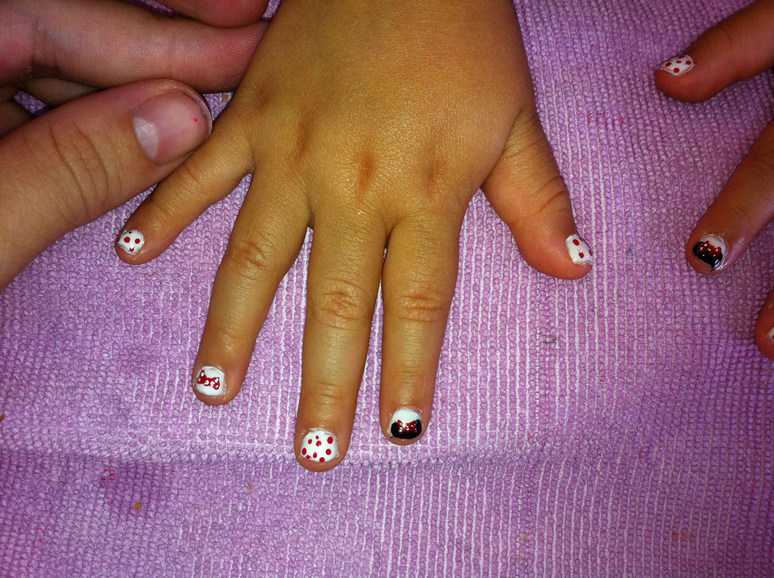 Minnie Mouse nails II By Kristi Owens  At Astonish salon  Midland tx