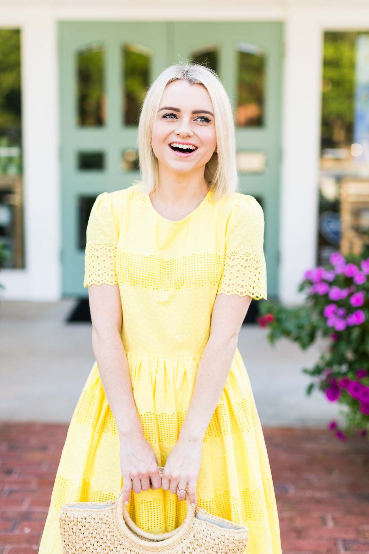 How To Wear The Yellow Dress Trend For Summer Poor Little It Girl Trending Dresses Citron Dress Petite Outfits [ 1860 x 1240 Pixel ]