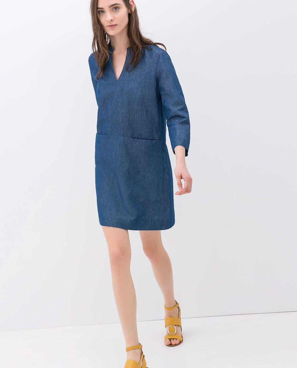 Zara mujer vestidos denim