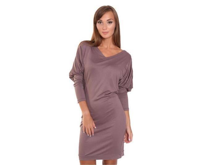 Kleid Mini-Kleid mit Fledermaus Ärmel Gr. 36 38 40 42, 8217 ...