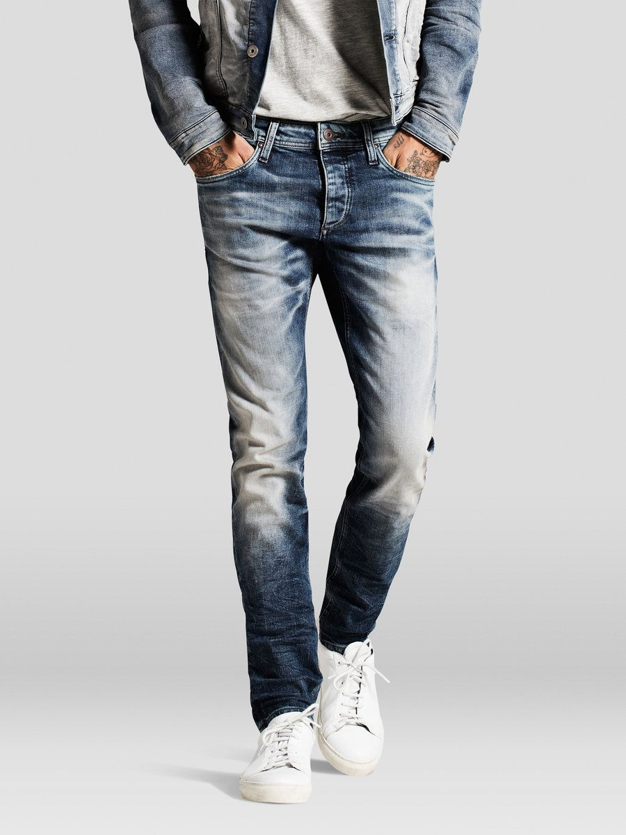 New Men/'s Jeans Pants Jj887 Jack /& Jones Glenn Original Slim Fit