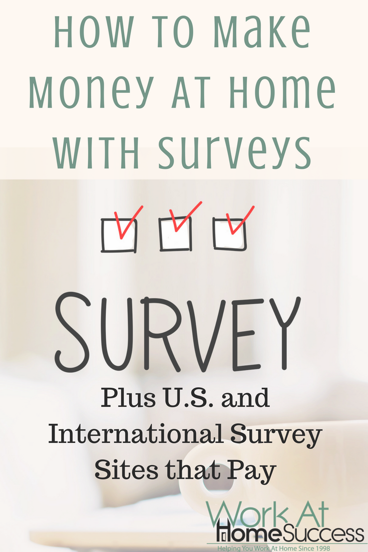 How to Make Money At Home with Surveys, Plus Survey Sites that Pay ...