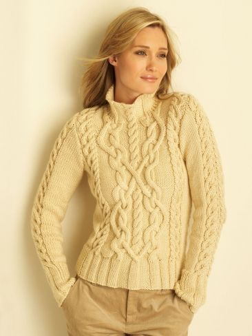 Free Aran Sweater Knitting Patterns For Women Knitting Jumper
