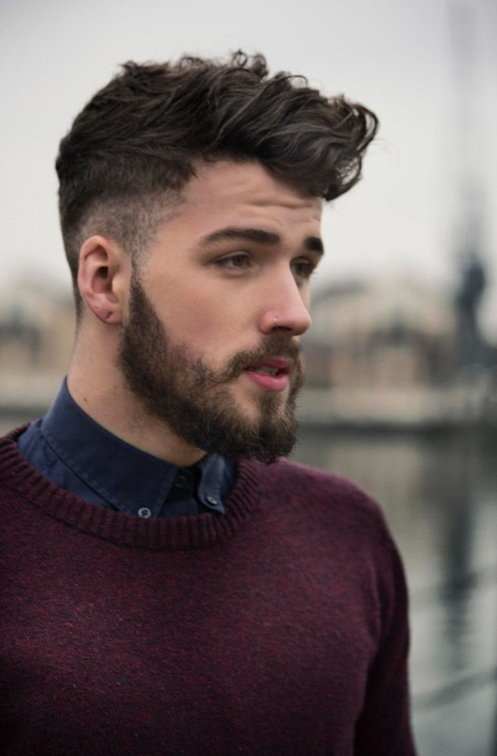Short haircuts for men with thick hair  best beard styles for men in   mensu grooming and public