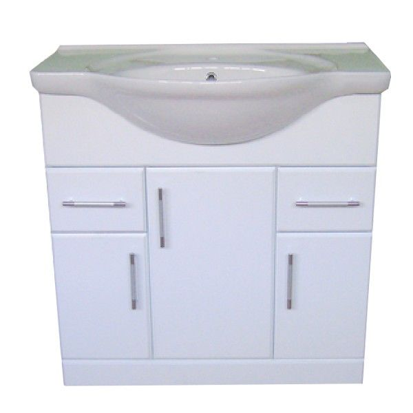 The Tac 85cm Vanity Unit Is A Stylish High Gloss White Floor