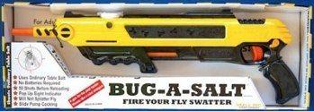 Cool Tools – Bug-a-salt.  Shoot flies with salt.  Amazing.