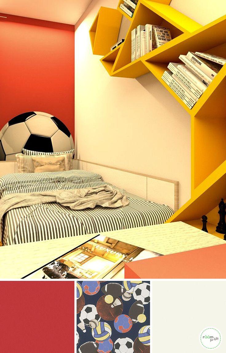 Fußball Tapete Kinderzimmer | Fussball Mal Anders Ein Jungenzimmer In Schwarz Rot Gelb Kids