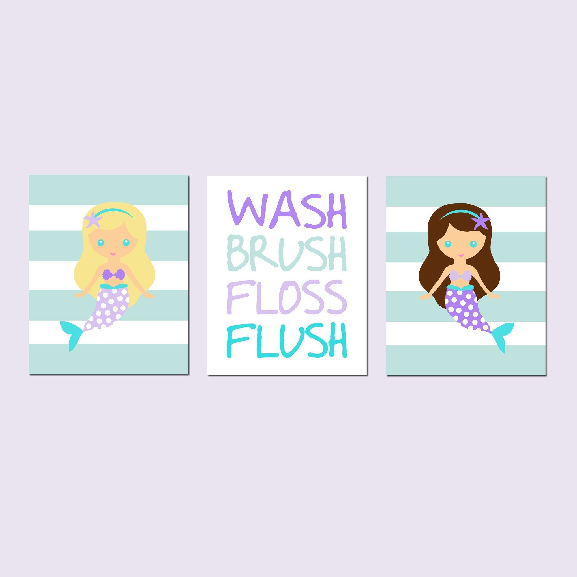 Mermaid Bathroom Decor Mermaid Bathroom Art Kids Bathroom Art - Set of 3 Mermaid Bathroom Prints Wash Brush Flush Floss - CHOOSE YOUR COLORS #mermaidbathroomdecor Mermaid Bathroom Decor Mermaid Bathroom Art Kids Bathroom Art - Set of 3 Mermaid Bathroom Prints Wash Brush Flush Floss - CHOOSE YOUR COLORS #mermaidbathroomdecor