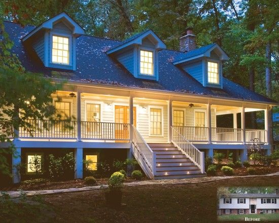 split level porch ideas love the hug country style porch my great grandparents had one