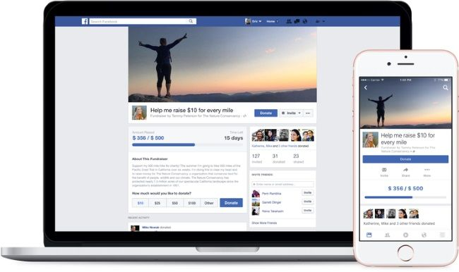 Facebook is releasing a tool allowing users to fundraise on behalf of U.S.-based 501(c)3 nonprofits.
