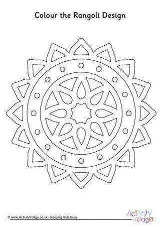 Rangoli Colouring Page 9 | Diwali craft | Pinterest | Geometric ...