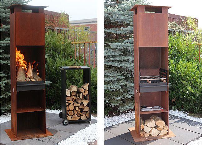 grotherm grill und feuers ule u hoch oben geschlossen grotherm metallbau und kamine gmbh. Black Bedroom Furniture Sets. Home Design Ideas