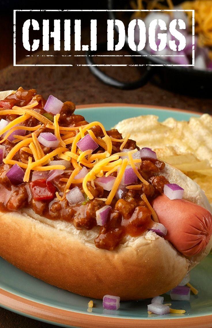 Chili Dogs Recipe Chili Dogs Chili Dog Chili Recipe Hot Dog Recipes