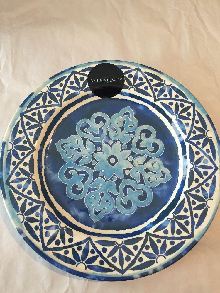 Cynthia Rowley Spanish Tile MELAMINE Dinner Plates Set 2 Outdoors /Indoors #CynthiaRowley & Cynthia Rowley Spanish Tile MELAMINE Dinner Plates Set 2 Outdoors ...