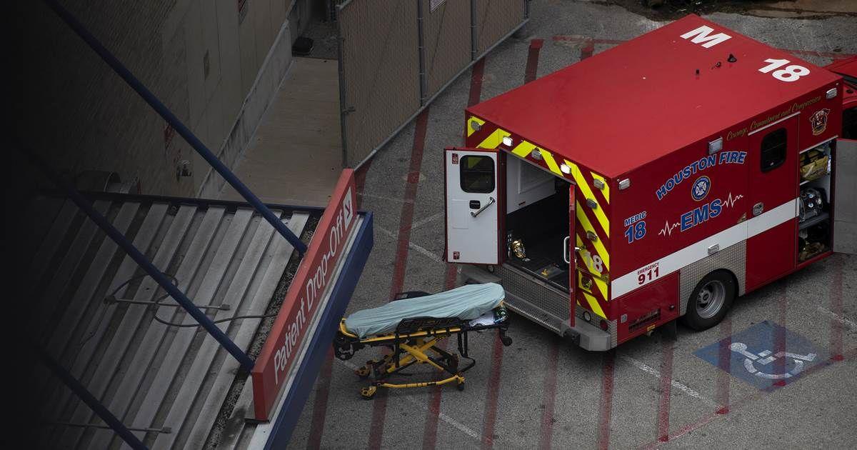 Inundated Houston hospitals issue grim advisory to