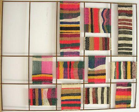 Teresa Lanceta: Trabajos / Tejidos / 2007 / traza (colores)