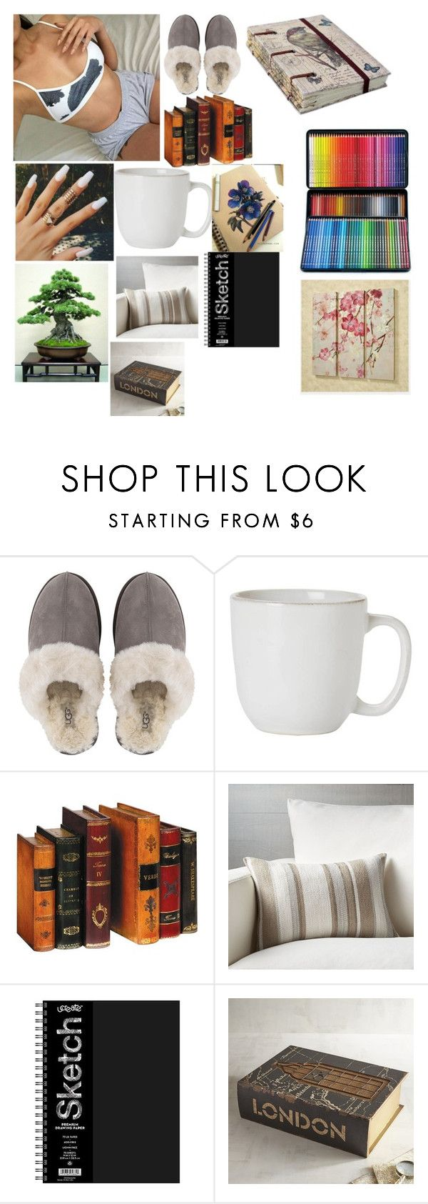 """""""Unwind"""" by gmurielle ❤ liked on Polyvore featuring UGG, Juliska, Crate and Barrel, Pier 1 Imports and NOVICA"""