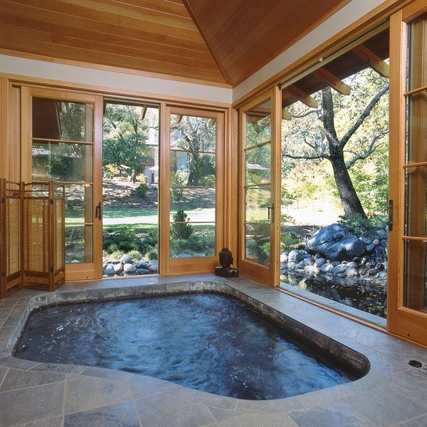 Indoor Hot Tub In The Basement Nice Description From Pinterest