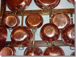 cucina con rame | Copper pots and pans | Pinterest | Rame e Cucine