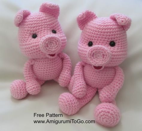 Crochet Along Pig Amigurumi To Go Toys You Can Make Pinterest