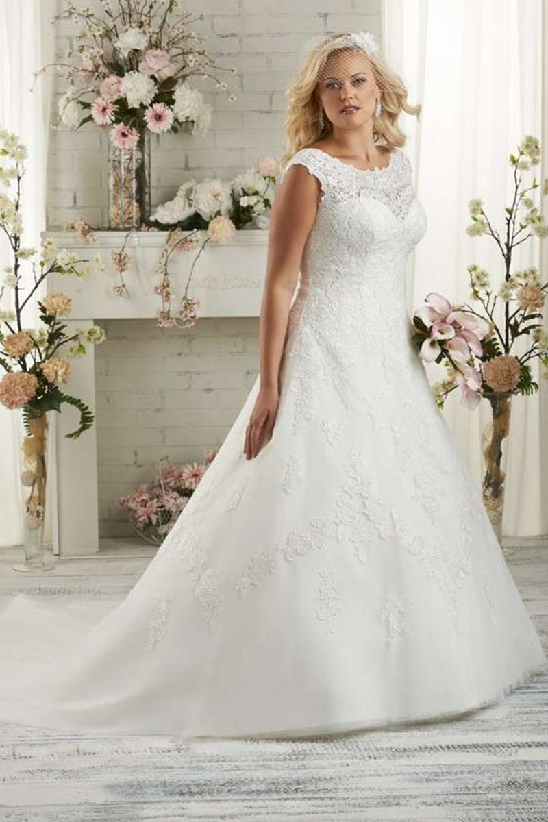Shopping For Aline Scoop Sleeveless Lace Chapel Train