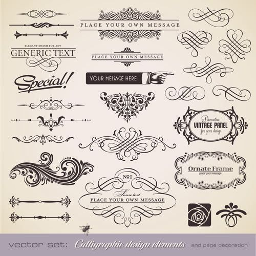 Vintage embellishment vector | Free Stock Vector Art & Illustrations ...