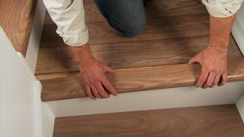 Cap A Tread Lakeshore Pecan 47 In. Height Laminate To Cover Stairs 1 In.